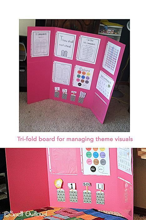Tri-fold preschool board