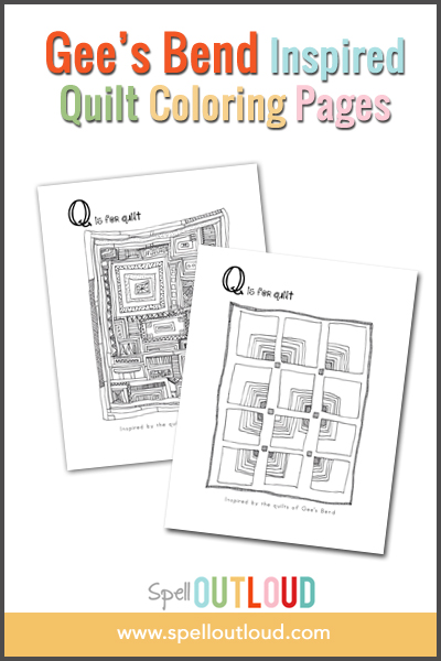 Gee's Bend Quilts Coloring Page