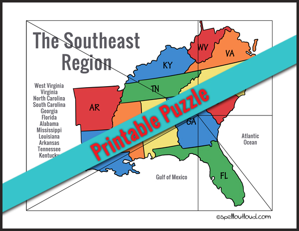 Learning About the Southeast United States - Spell Out Loud