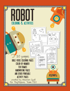 Robot Coloring & Activity Book