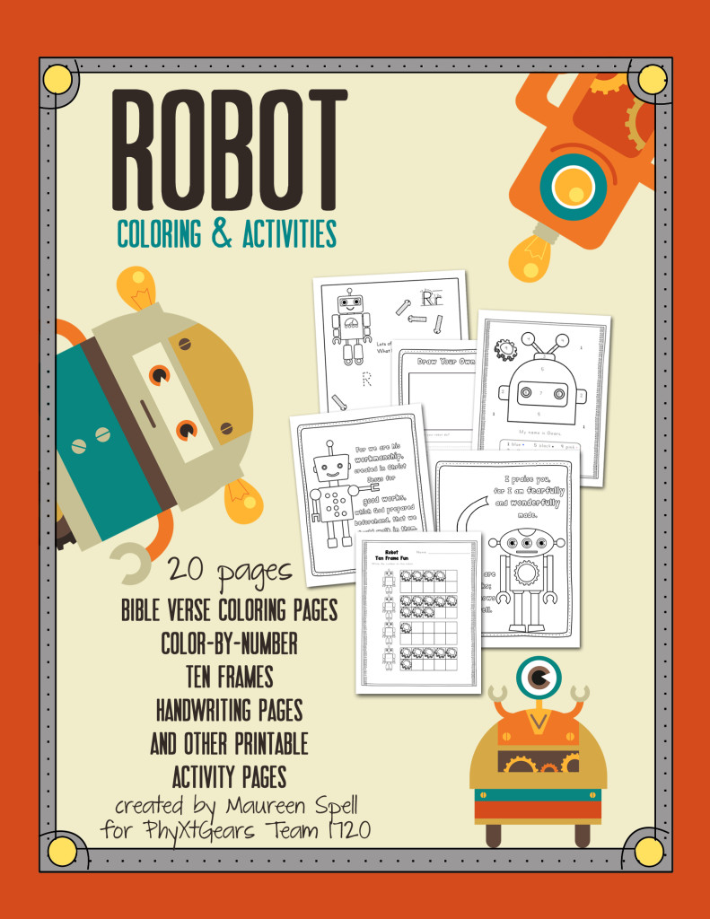 Robot Coloring & Activity Book