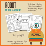 Robot Coloring Book from SpellOutloud