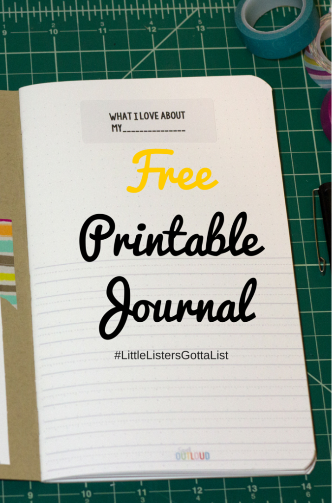 Free printable notebook