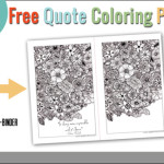 May Printable Quote Coloring Page