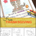 Free Thanksgiving Scripture Coloring Pages