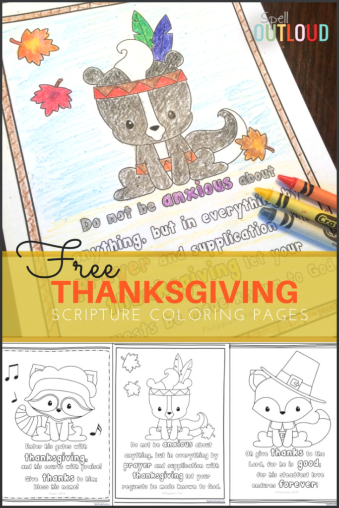Free Thanksgiving Scripture Coloring