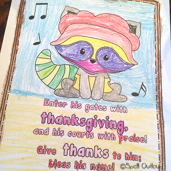 thanksgiving scripture coloring page