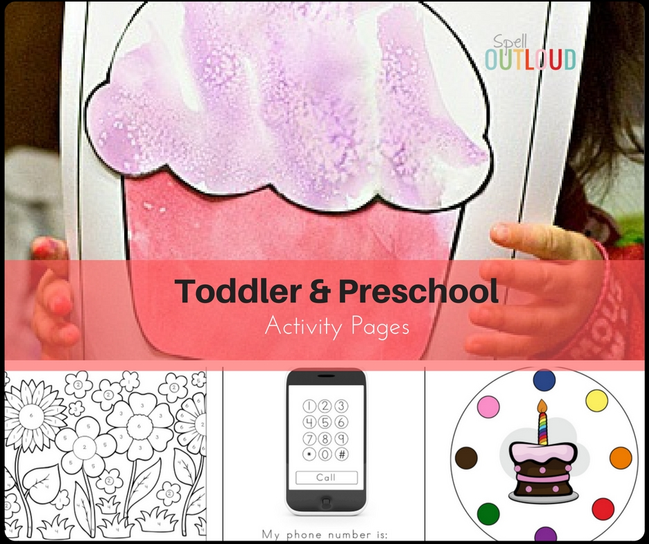 Toddler and Preschool Activity Pages
