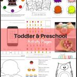 Toddler Preschool Activity Pages