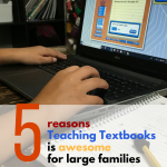 5 Reasons Teaching Textbooks is Awesome for Large Families